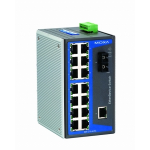 Switch: 15 x 10/100BaseT(X), 1 x 100BaseFX multi-mode SC, -40 kuni 75°C, mittemanageeritav DIN