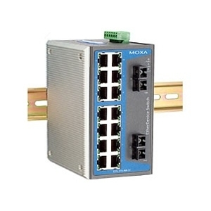 Switch: 14 x 10/100BaseT(X), 2 x 100BaseFX single-mode SC, -40 kuni 75°C, mittemanageeritav DIN