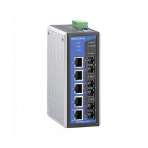 Switch: 5 x 10/100BaseT(X), 2 x 100BaseFX multi-mode SC, 1 x 100BaseFX single-mode SC, 0 kuni 60°C
