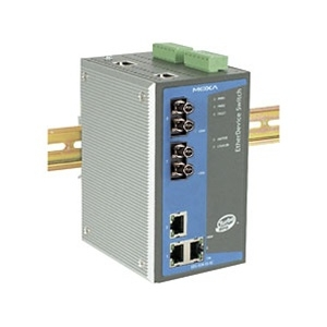 Switch: 3 x 10/100BaseT(X), 2 x 100BaseFX multi-mode porti (ST), 0 kuni 60°C