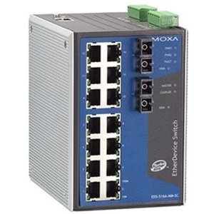 Switch: 14 x 10/100BaseT(X), 2 x 100BaseFX multi-mode SC, -40 kuni 75°C