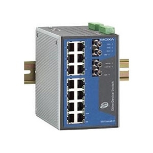 Switch: 14 x 10/100BaseT(X), 2 x 100BaseFX multi-mode ST, 0 kuni 60°C