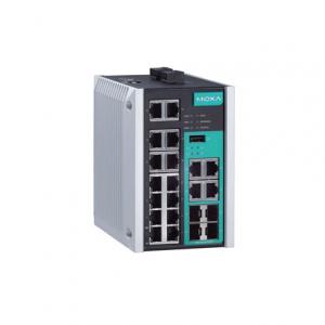 Switch: 12 x 10/100BaseT(X), 4 x 10/100/1000BaseT(X) or 100/1000BaseSFP port, 2 100 baseFX ( Singlemode, SC konnektor ) -40 kuni 75°C