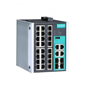 Switch: 24 x 10/100BaseT(X), 4 x 10/100/1000BaseT(X) või  x SFP pesa, -10 kuni 60°C