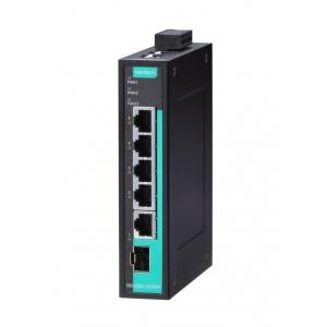 Switch: 4 x 10/100/1000BaseT(X), 100/1000BaseSFP port, -10 kuni 60°C, mittemanageeritav DIN
