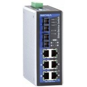 Switch: 2 x 10/100BaseT(X), 4 x PoE, 2 x 100BaseFX single-mode SC, 0 kuni 60°C, mittemanageeritav DIN