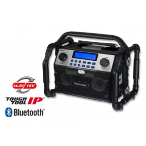Raadio Panasonic, Dual voltage 14.4/18V, ilma aku ja laadijata, FM/AM, Bluetooth, IP64
