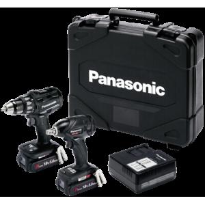 Komplekt: Akutrell + Akulöökmutrikeeraja Panasonic, Dual voltage 14.4/18V, 2x18V 3.0Ah akut komplektis