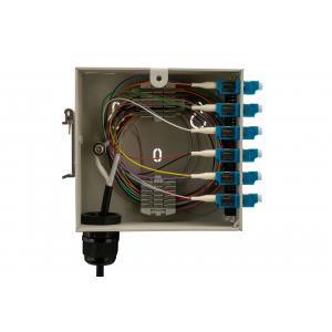FO DIN-rail karp 6xLC duplex multimode adapteritega