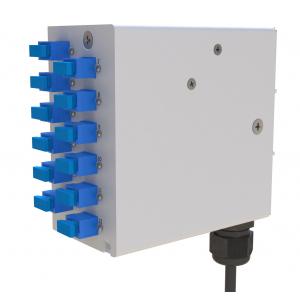 FO DIN-rail karp 12xSC simplex multimode adapteritega