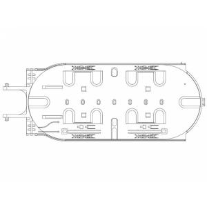 FO muhvi plaat FOSC-A-TRAY-S24-1