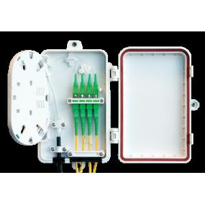 FO seinakarp 4-8 kiudu 4xSC simplex/LC duplex jätkuplaadiga plastik IP65 tühi
