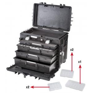 Tööriistakohver ratastega 581x381x455mm AI1 KT01