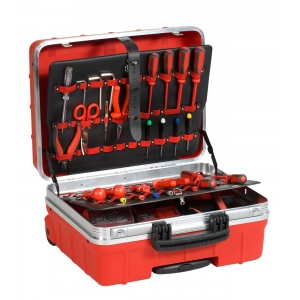 Tööriistakohver 465x352x255mm ATOMIK/R WH PEL, punane