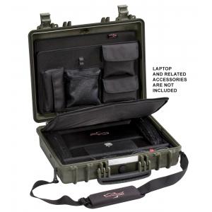 Transpordikohver 445x345x125mm 4412.GC, sülearvuti kotiga, roheline