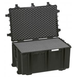 Tööriistakast 765x485x415mm veekindel, must, vahuga