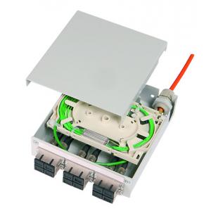FO DIN-rail karp 6xSC duplex multimode adapteritega splice cassette, pigtail 12xSC OM3