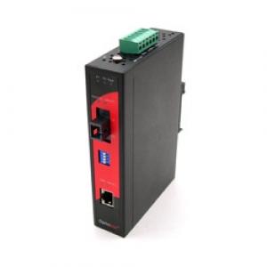 Tööstuslik konverter: 10/100T(X) to 100FX SC SM kuni 20km, WDM A, -10° kuni 70°C, DIN