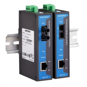 Tööstuslik konverter: 10/100BaseT(X) to 100BaseFX, multi mode, SC, -10 kuni 60°C