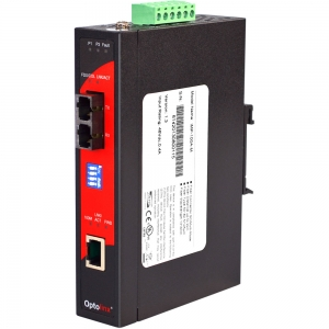 Tööstuslik PoE konverter: 10/100T(X) to 100FX SC MM, -10° kuni 70°C, DIN