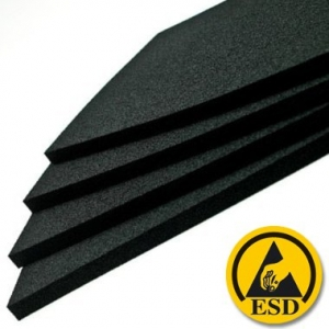 FOAM - Hard Black Conductive  for i.c. - 6mmX1mtX1m  Sheet