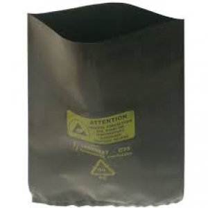 "BAGS - Black conductive polyethylene 75µm - 200X350mm(8""X14"")   Packages of 100"