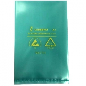 "DISSIPATIVE POLY BAGS, 100µm  - 300X350mm(12""X14"")  Packages of 100"