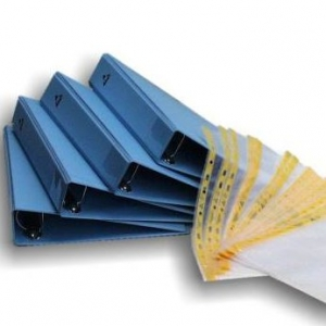 BINDER for A4 size pockets  -  4 ring diam. 35mm - dissipative bleu