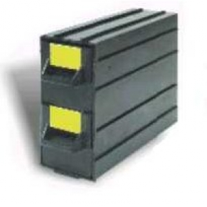 CAB2 - 2 drawers unit, conductive black, int.40x43x120mm