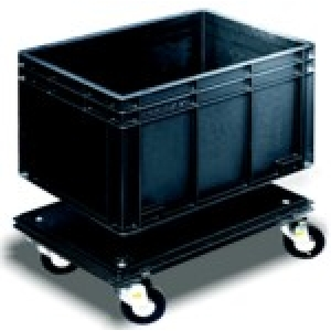 ROLLBOX 64F conductive trolley for NEWBOX 600x400- 2 wheels with brake