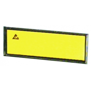 PAPER LABEL, yellow, ESD symbol - 15x79.5