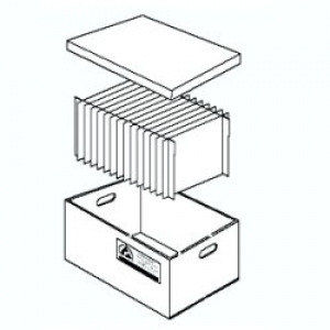 PACKING - Container with cell divider - 12 cells - ext 270X430X240h mm