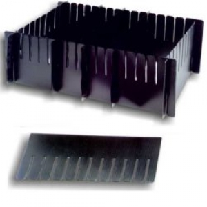 DIVIPRINT - LABEPLAST conductive divider, length 552, height 182, pitch 104mm, 6 slits