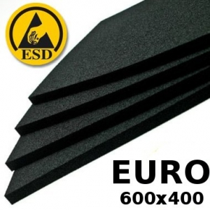 Pakkematerjal - Conductive FOAM 10mm for 600x400 EUROcontainers bottom covering