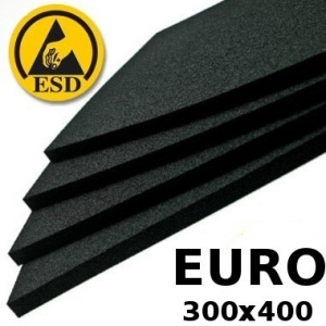 Pakkematerjal - Conductive FOAM 10mm for 300x400 EUROcontainers bottom covering