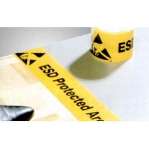 PVC ADHESIVE TAPE 75mmx33m roll - ESD protected area floor marking.