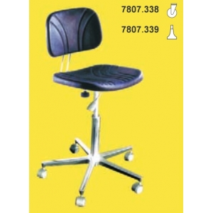 CLEAN ROOM CHAIR, H= 450/580, short back-rest, with castors
