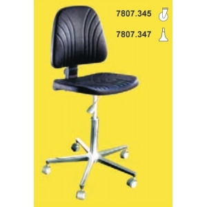 CLEAN ROOM CHAIR, H= 450/580, adjustable back-rest angle, with castors