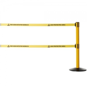 RETRACTABLE BELT BARRIER - Column, 2belt 2m length