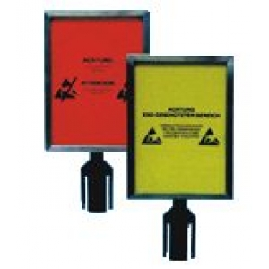 RETRACTABLE BELT BARRIER - Sign holder A4 only for column  2 m