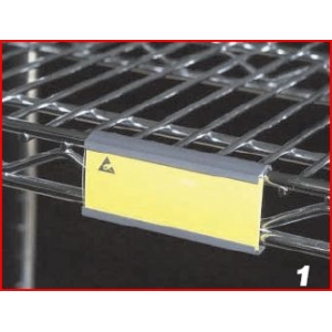 LABEL HOLDER - Black PVC, 80mm bar