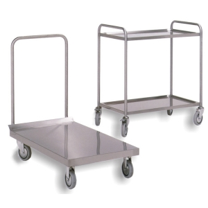 2 U-handle stainless kit - 3 shelves capacity - c. wheels