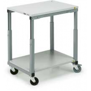 Moveable bench 700x1000mm, height adjustment, with lower shelf SAP-710ESD + AT-710ESD