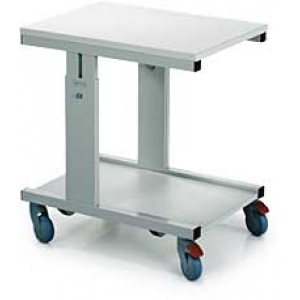 Moveable bench 700x500mm, height adjustment, with lower shelf CTR-705ESD