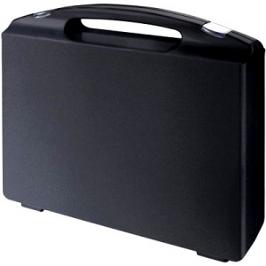 BRIEFCASE in black conductive polypropylene  - int. 270x185x76 mm