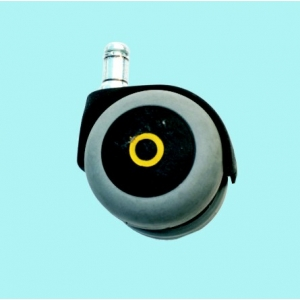 CASTOR  conductive rubber  diam.125 - Bolt hole mount 12mm