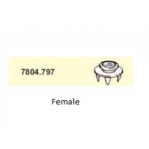 Push & Clinch FEMALE SNAP 10mm