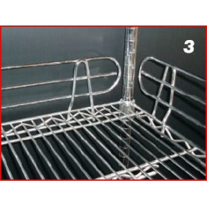 Front and Back LEDGE 100x762mm for wire shelving 30""