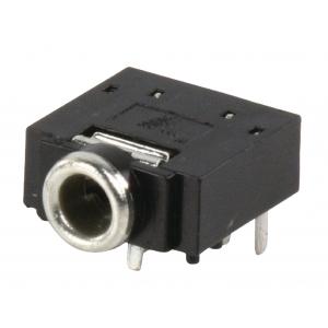 Stereo 3.5mm pesa plaadile, lülitiga, kõrgus 5mm, JC-128