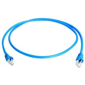 Võrgukaabel Cat6a S/FTP 0.5m sinine LSZH